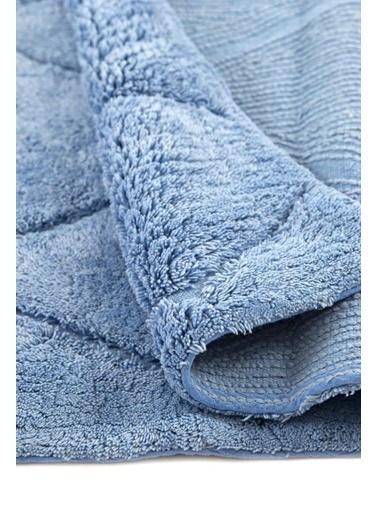 İrya Olıver Turkuaz 50*80 Banyo Paspası Mavi